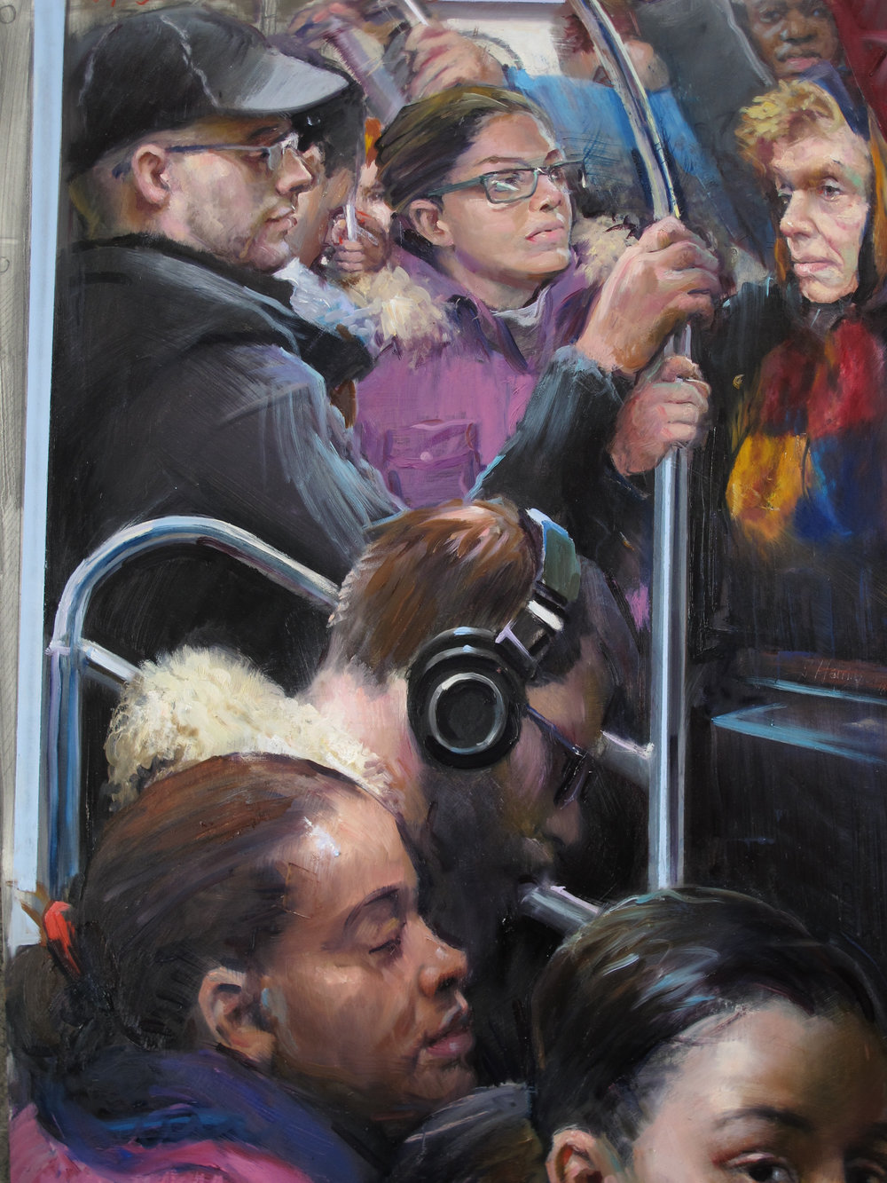 Harrington J. Crowded E Train.jpg