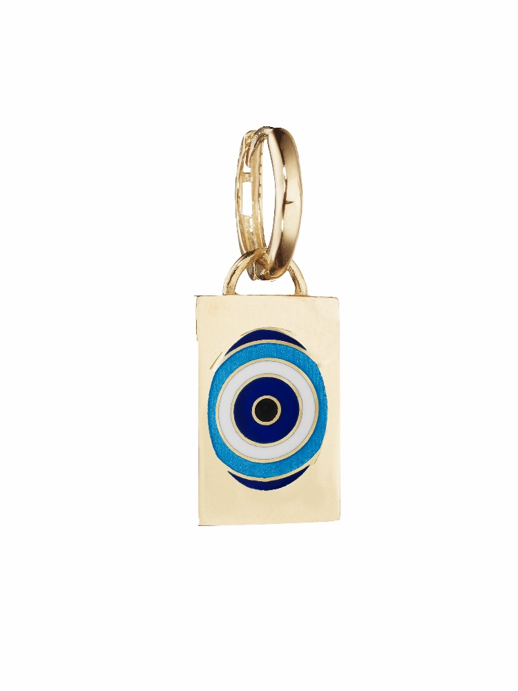 Evil Eye Tag Earring/Pendant — JESSICA BIALES JEWELRY