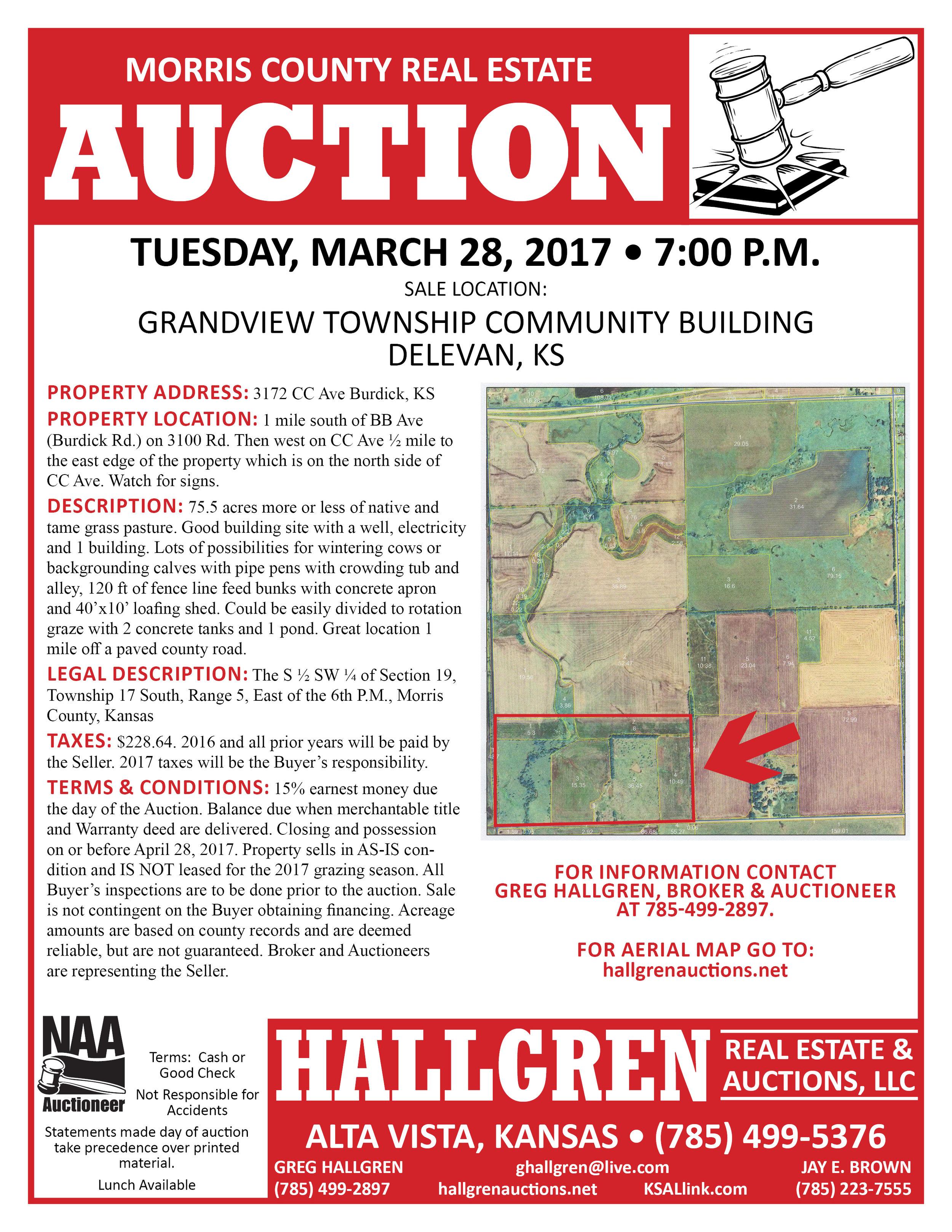 Kansas morris county dwight - Morris County Real Estate Auction