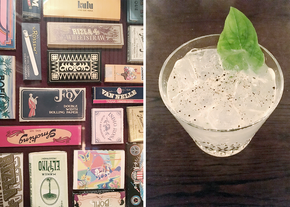 The Hoxton Hotels rolling paper collection and the best gin cocktail I have ever had