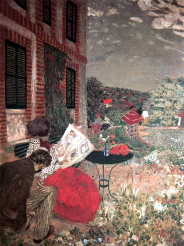 Edouard Vuillard The Garden of Le Relais at Villeneuve-sur-Yonne (1898)