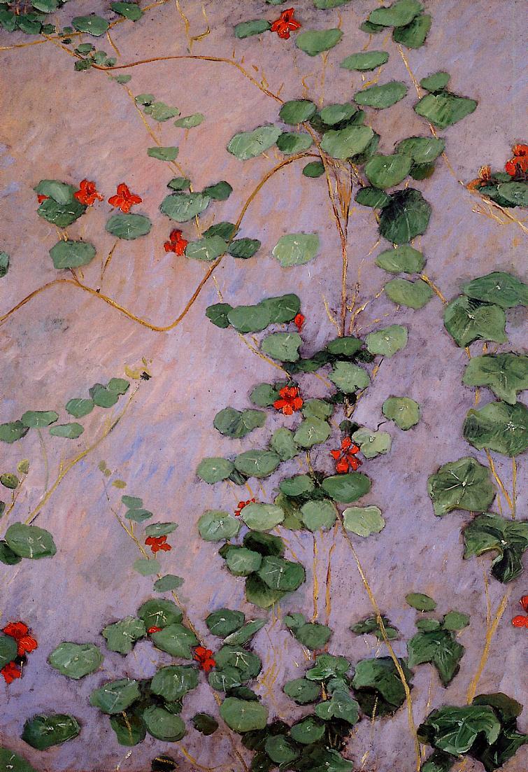 Nasturtiums - Gustave Caillebotte