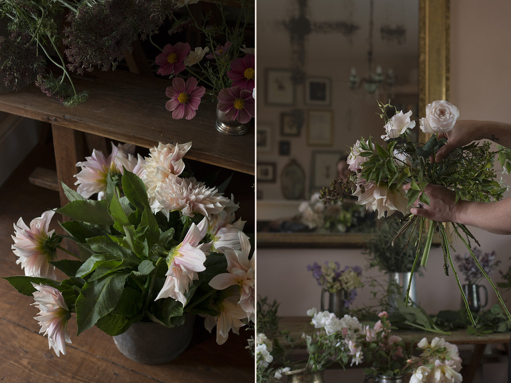 Flower arranging workshop | photo by Aesme Flowers