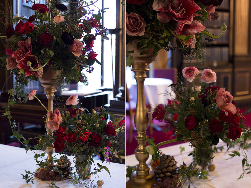 Reform Club Christmas Drinks Party | Aesme Flowers