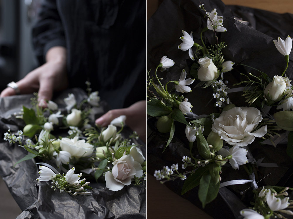 Spring wedding buttonholes | Aesme Flowers London