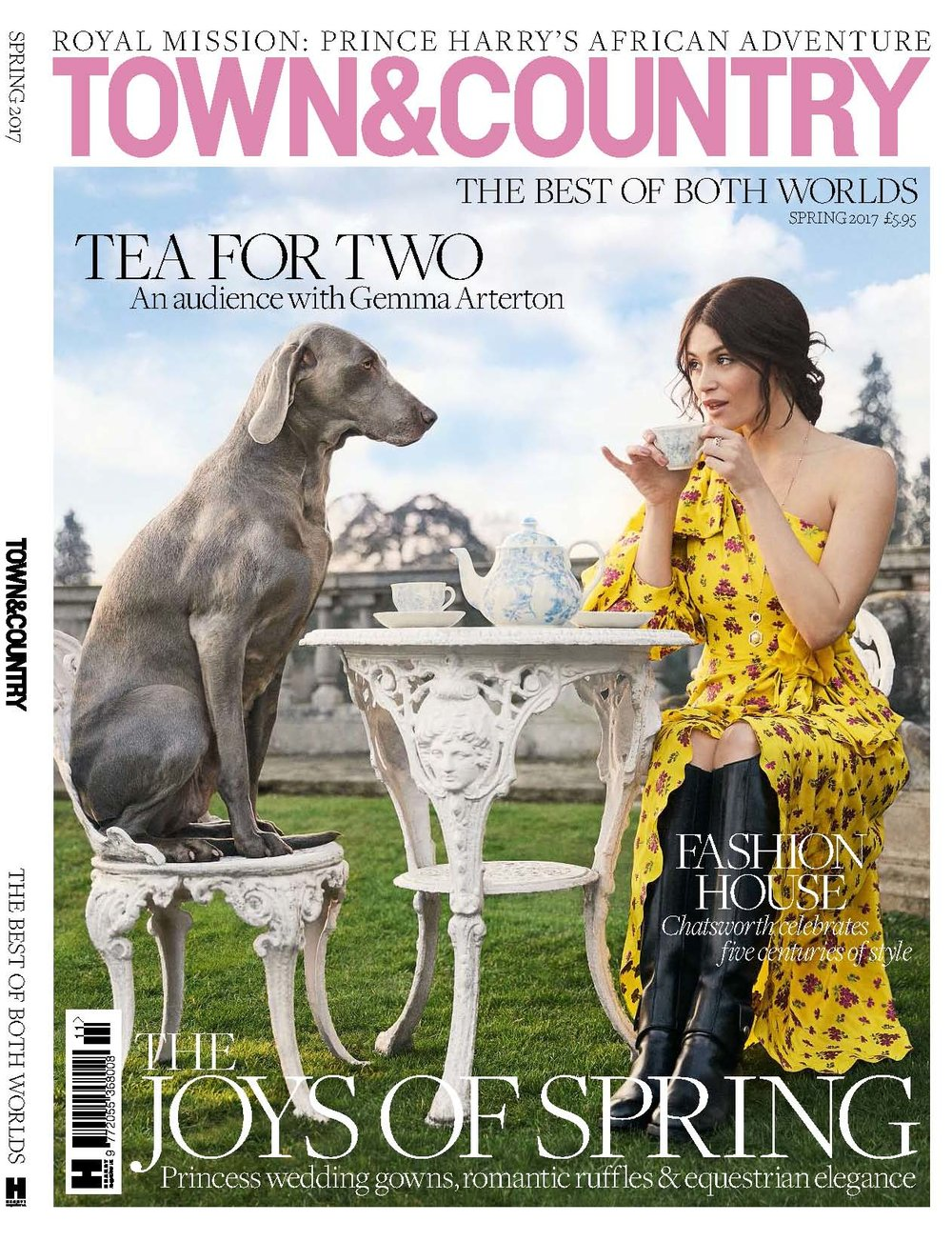 Aesme Flower Studio featured in Town & Country magazine 2017