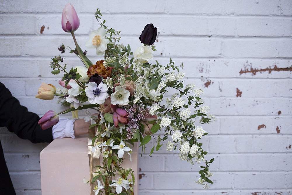 Spring wedding bouquet with British flowers | Aesme Flowers London