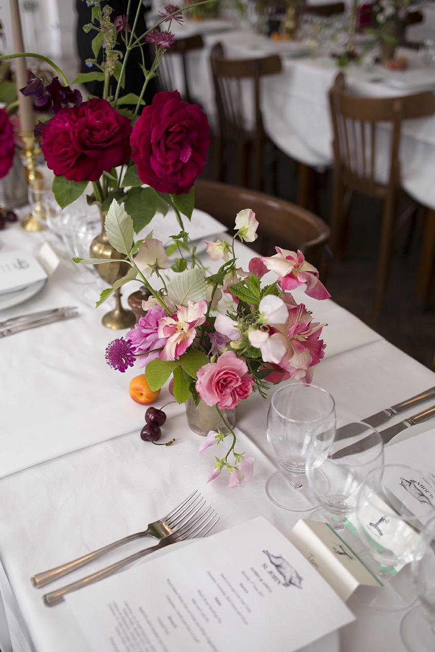 Aesme Flowers London | Wedding Flowers St John Bread & Wine