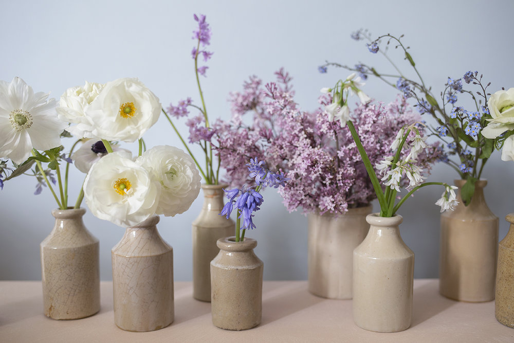 D I Y   F L O W E R S  - Buckets of seasonal flowers and foliage, for collection from the studio