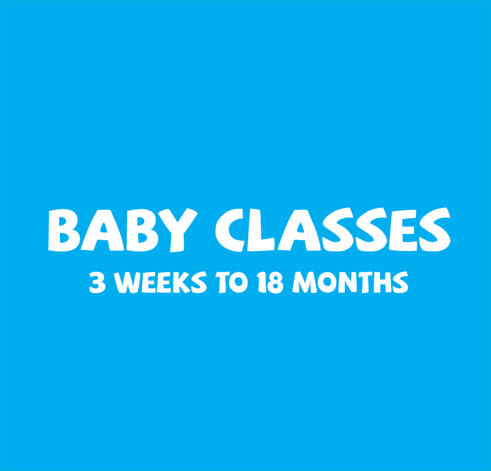 Classes are based on  fun activities, songs, toys and games .  The earlier you start the better, this ensures they are more confident and natural in the water.  A class size is a maximum of 10 and is of 30 minutes duration, parent & baby are in the water.   Babies from 0 - 5 month swim for FREE  (T&Cs Apply)