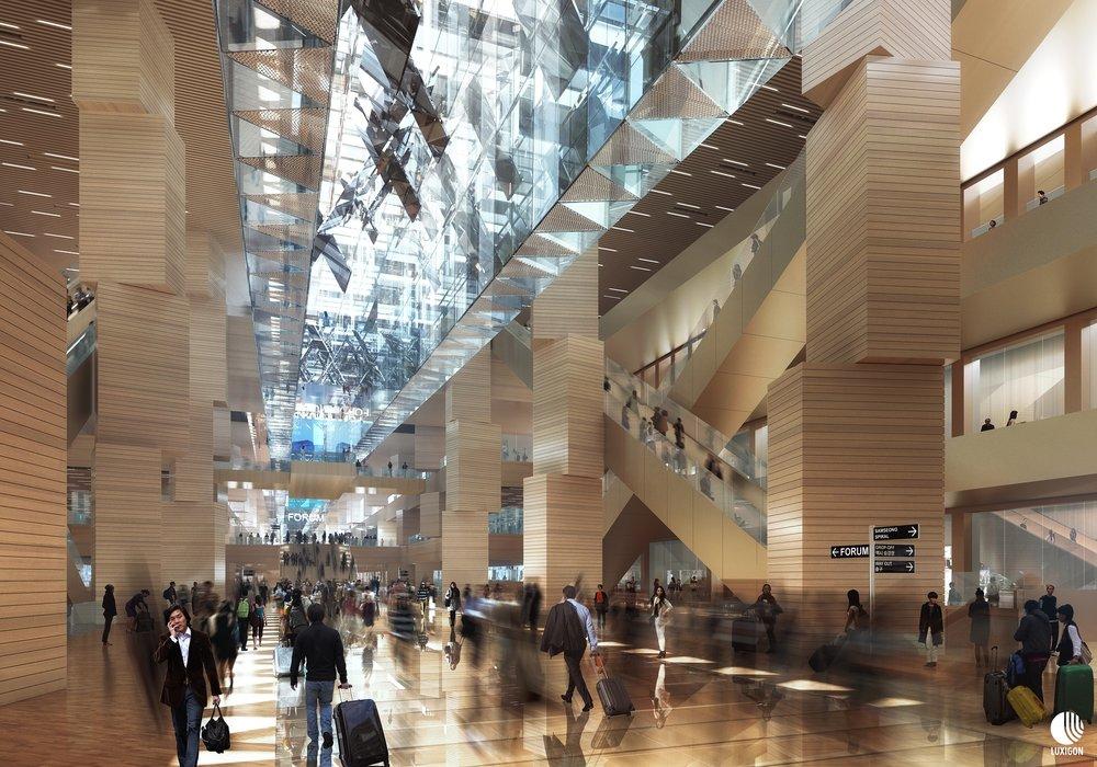 DOMINIQUE PERRAULT - Gangnam Intermodal Transit Centre - Seoul, KR