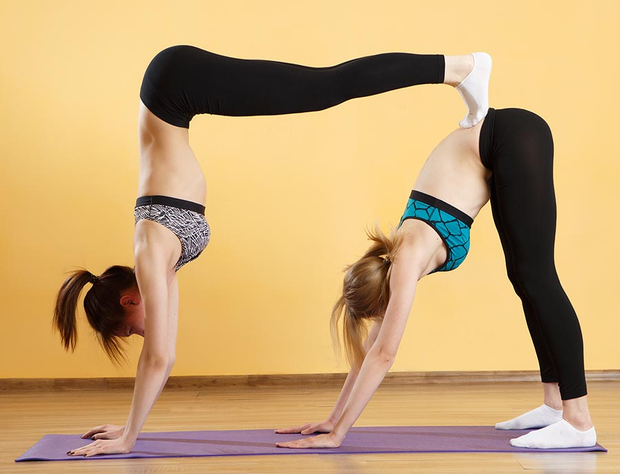 It takes Two, to partner yoga -