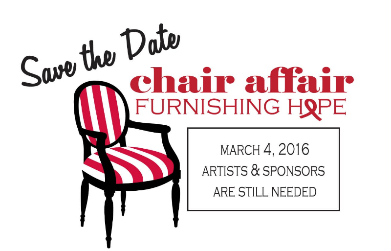 The 2016 Chair Affair is a business casual event where community members build, up-cycle, reupholster or design a piece of furniture that will be auctioned off. All proceeds will stay in our community and benefit the Heptner Cancer Center. Click here to find out how YOU can help support the 2nd Annual Chair Affair!