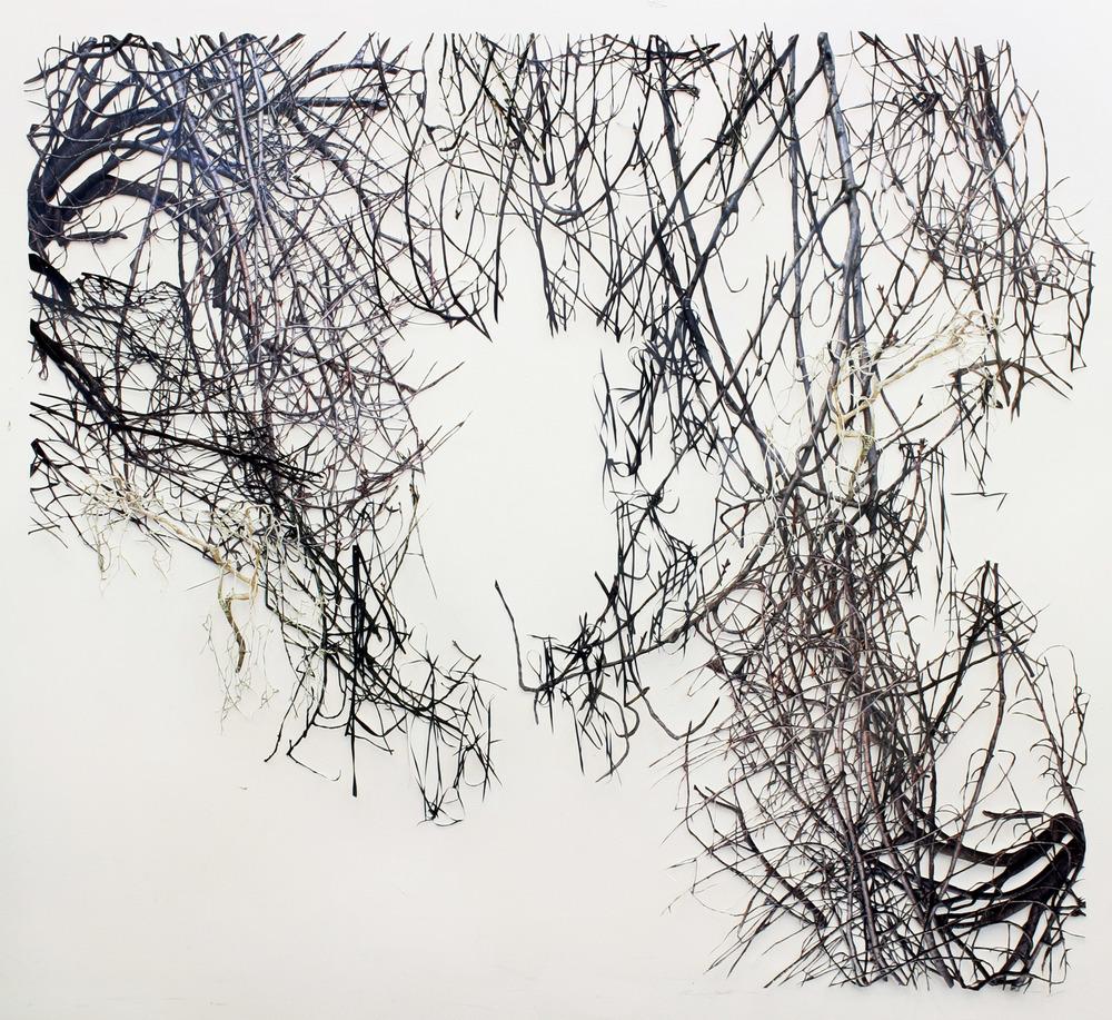 "Untitled I   hand-cut c-prints, collage, 52"" x 52"", 2008"