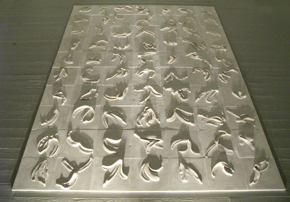 CHOREOGRAPHY 2009, Marble and cultured marble, 72x120 inches
