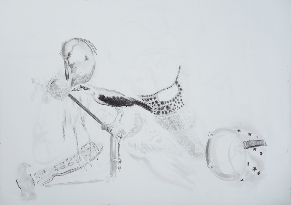 Untitled(Birds and Knit Beard)