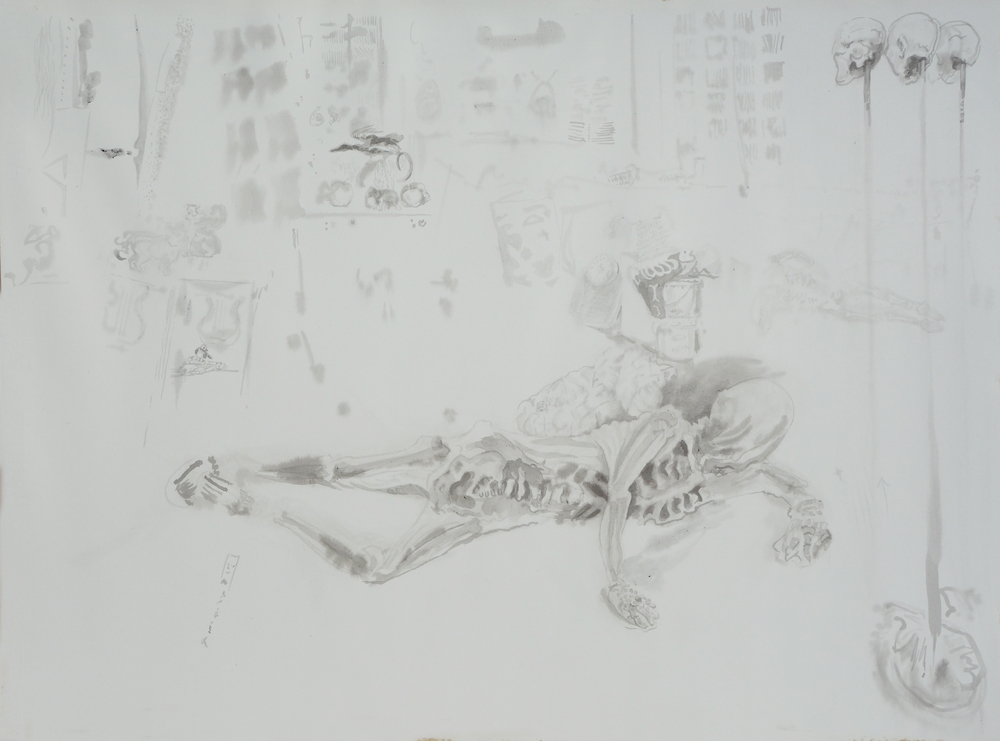 Untitled (Reclining Skeleton)