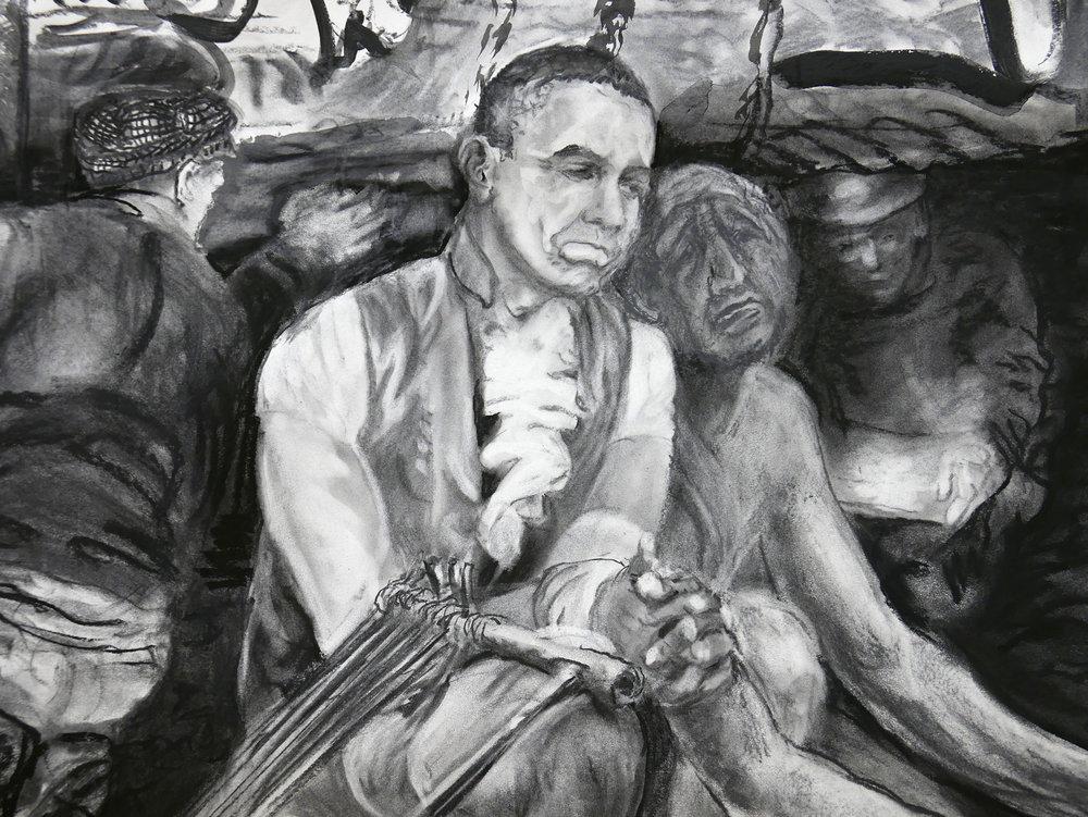 Detail of JEFFERSON MARSYAS (Obama)