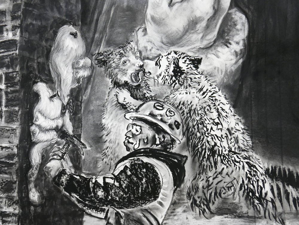 Detail of JEFFERSON MARSYAS (bear necessities)