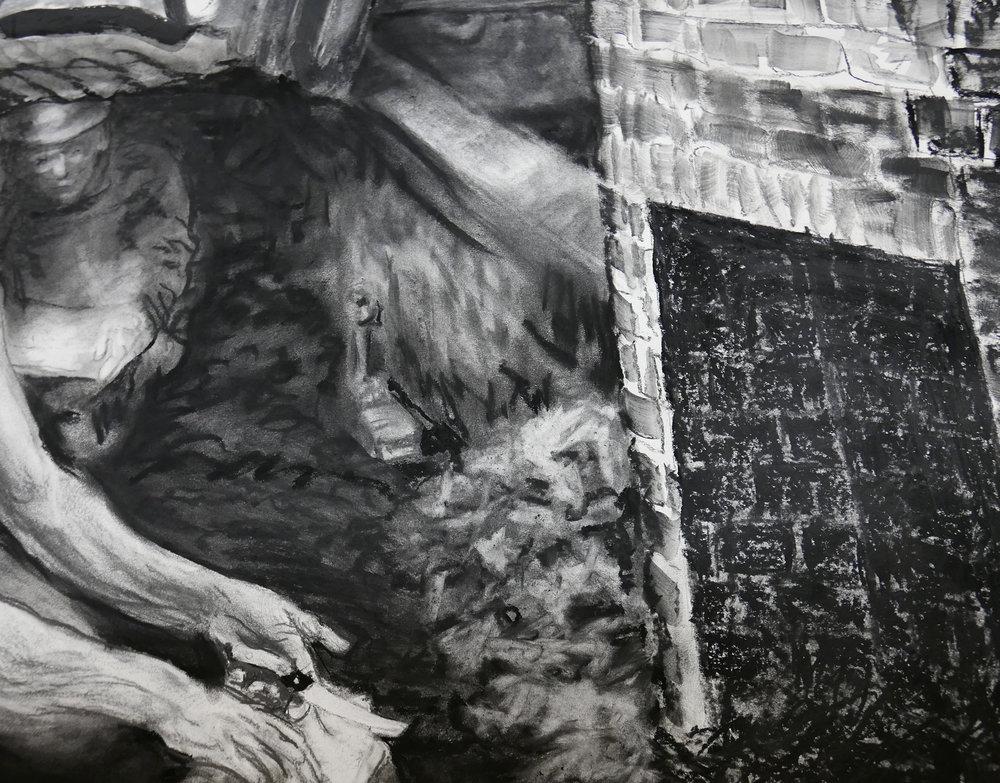 Detail of JEFFERSON MARSYAS (coal miner in Sally Heming's cabin)