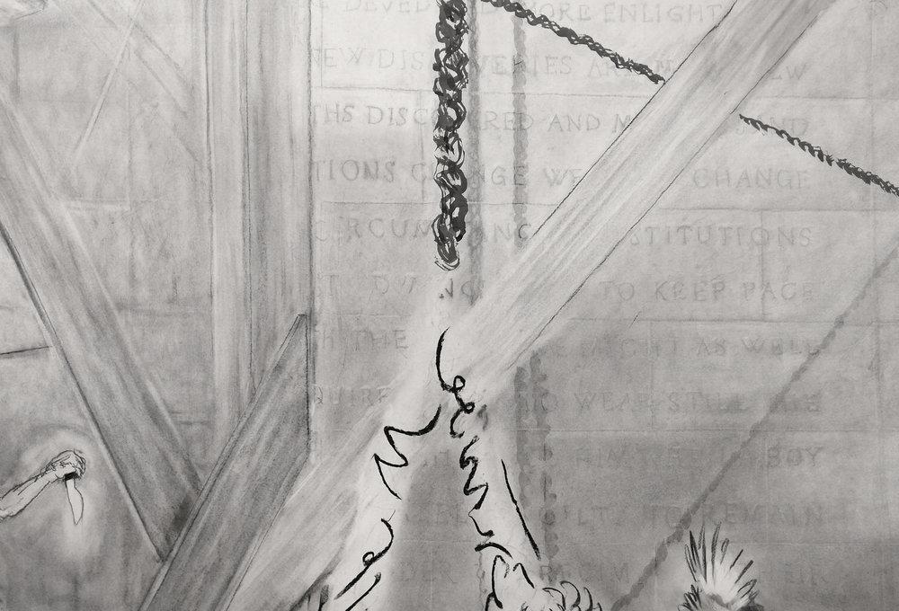 Detail of JEFFERSON MARSYAS (plumb)