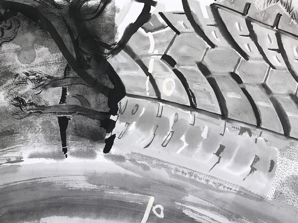 Detail of FUGUE (tire)
