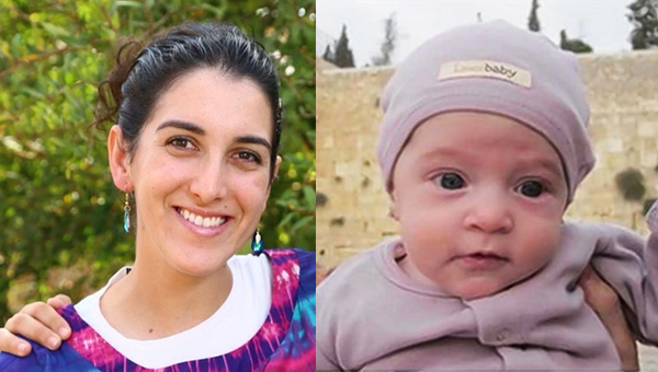 """Victims of what official Palestinian Authority media organs call """"heroic operations"""": Left, Dalia Lamkus, 26, run over and then stabbed to death by a terrorist on Nov. 10. Right: Three-month-old Chaya Zissel Braun, murdered on Oct. 23 when a terrorist rammed a car into her stroller. Several other victims were killed or injured in these attacks."""