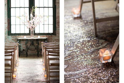 unique-wedding-aisle-sequins-confetti