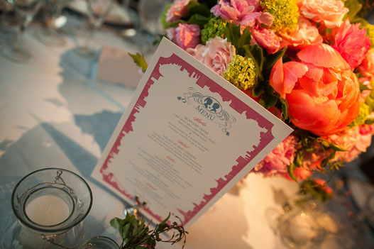 pink-blue-nyc-theme-menu-ny-botanical-garden-wedding