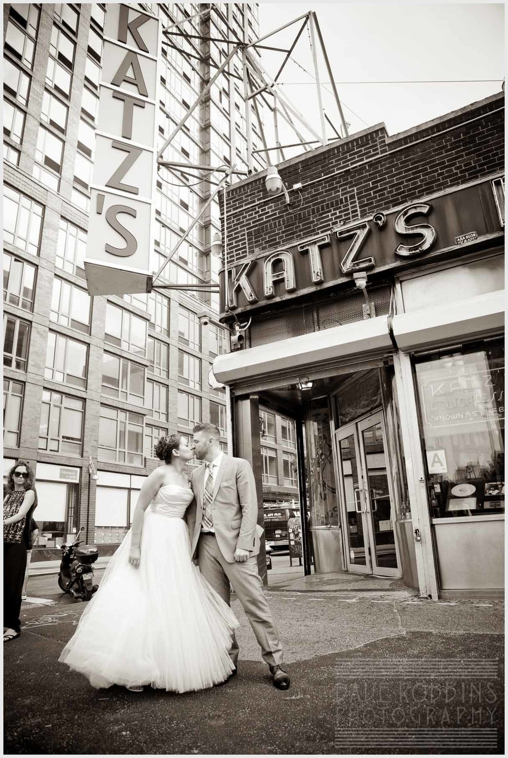 katz-deli-wedding-bride-groom