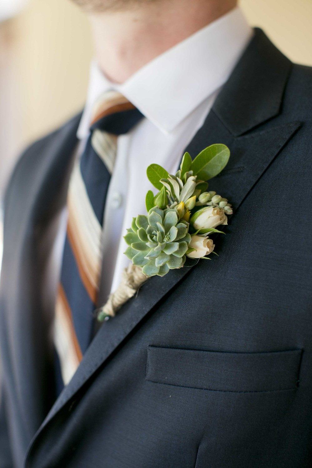 succulent-boutonniere-wedding