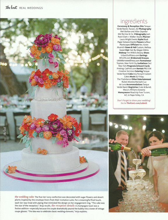 magenta-peach-sugar-flower-wedding-cake-coup-tower