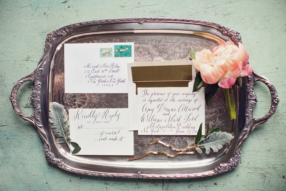 beautiful-calligraphy-invitation-silver-tray-peony