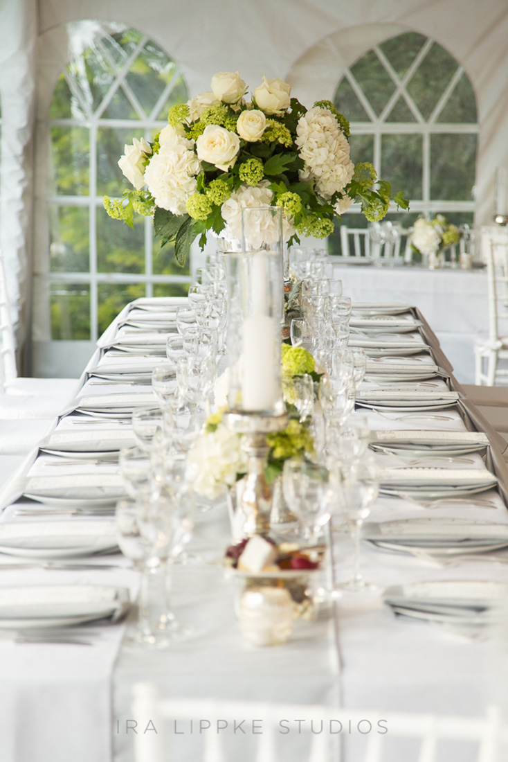 white-hydrangea-wedding-centerpiece-classic-elegant-long-tables