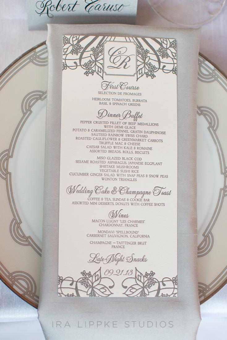 elegant-classic-silver-wedding-menu-letterpress-ceci