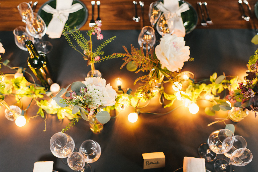 unique-brooklyn-theme-wedding-inspiration-string-lights-rustic