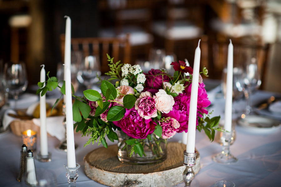 wild-loose-natural-arrangement-centerpiece-magenta-pink-birch-taper