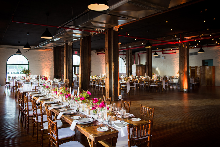 liberty-warehouse-wedding-long-farm-wood-tables