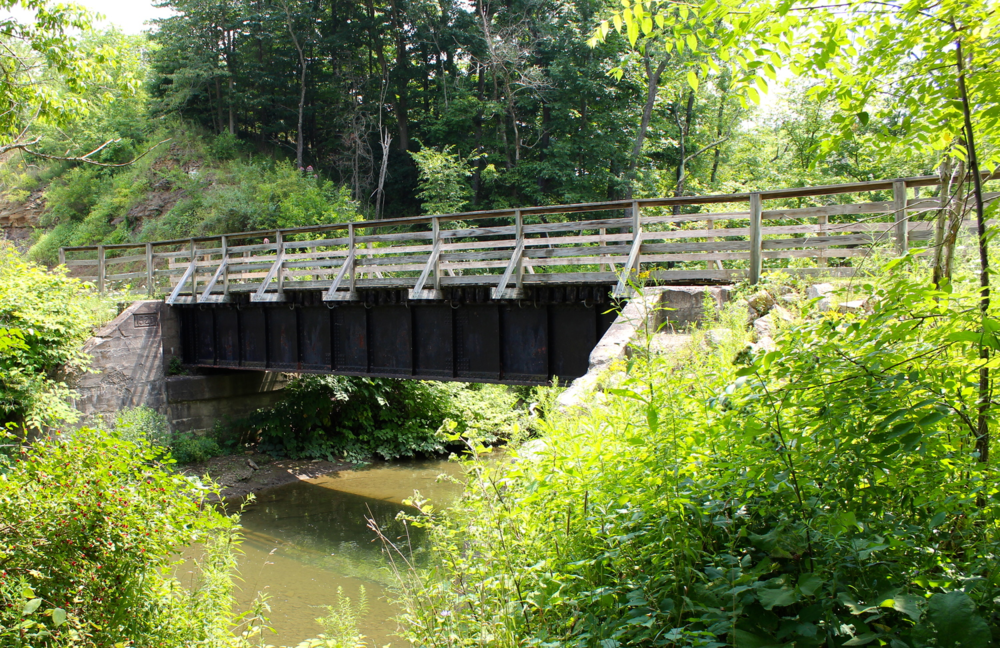 The bridge off of Montour Trail