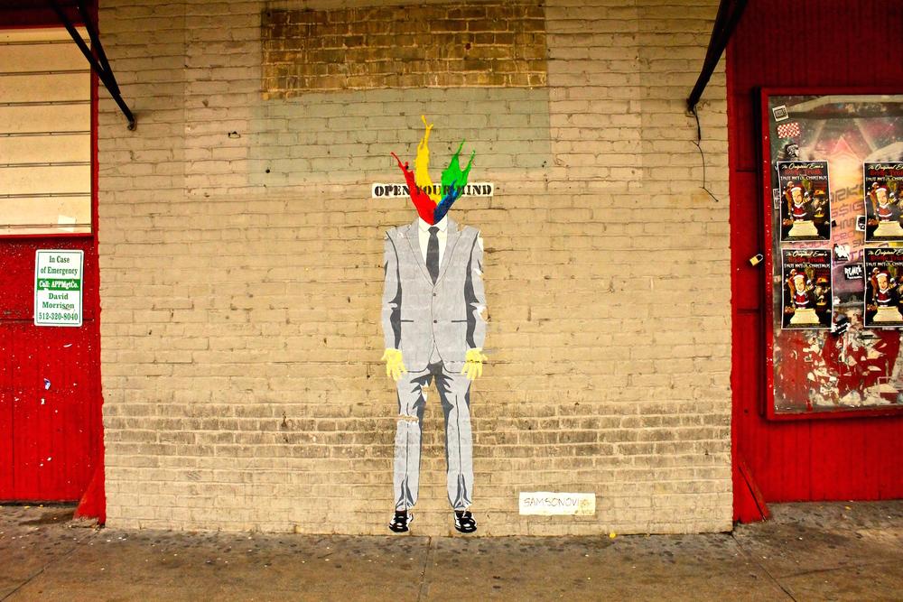 Austin Street Art Man