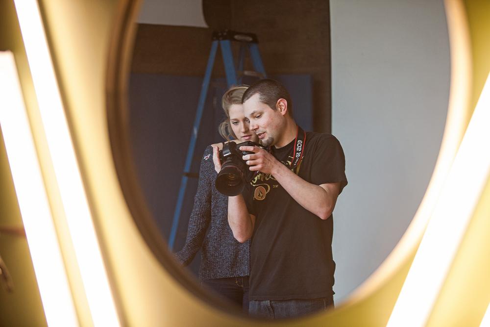 Sean Forsyth with model Mackenzie