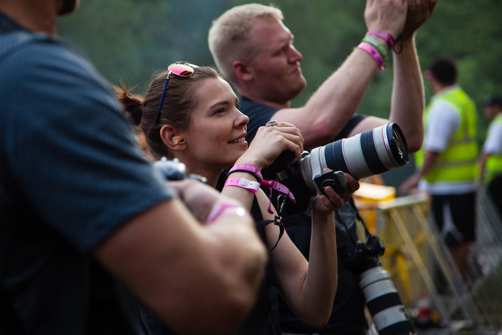 Victoria shooting in the pit during a musical performance at the 5th Annual Electric Forest Festival.