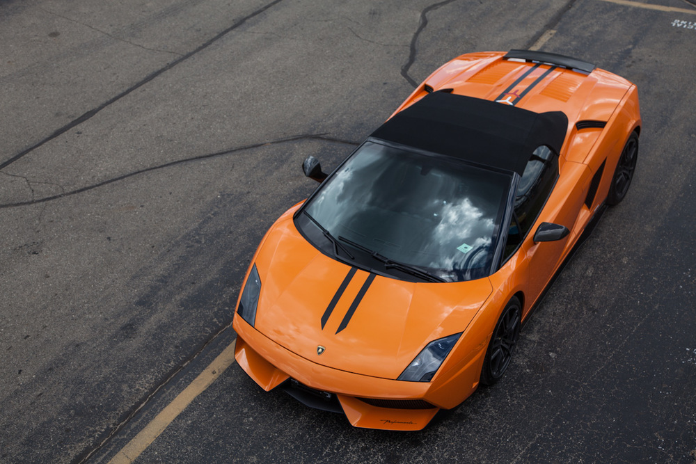 A Lamborghini photographed during a Platinum Motorcars customer appreciation event at Waterford Racetrack.