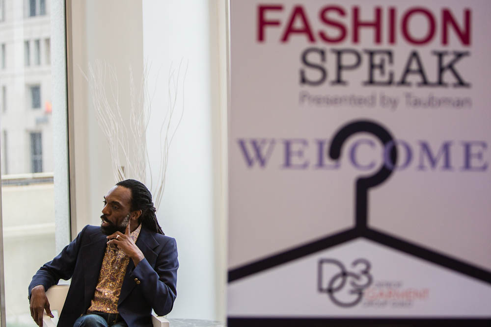 Keynote speaker Kevan Hall at Fashion Speak in Detroit.