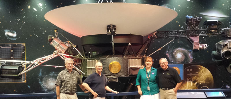"First of ""Tours"" by AeroED Group founders Rick Worthen, Rich Kenney and John Telles with NASA JPL's Aerospace education specialist Sandy Kaszynski."