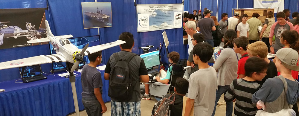 Participation at education events:   Exhibit booth at San Diego Science Alliance High tech fair, 2015