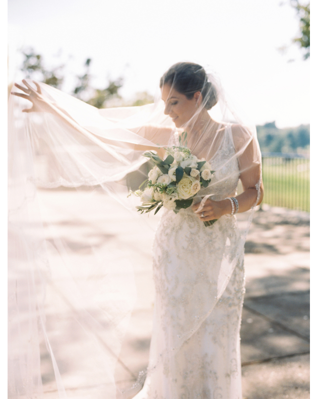 cathedral veil with updo