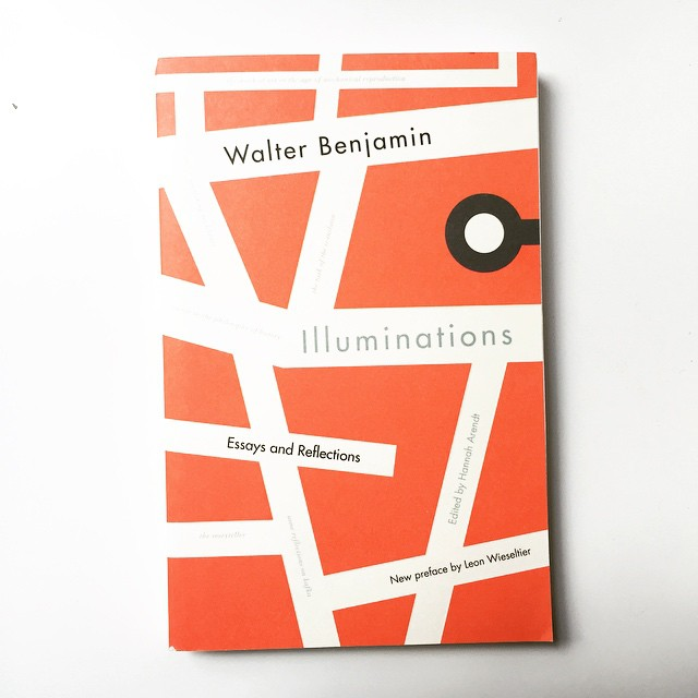 "Excited to dig into this. Especially bought it for the ""The Work of Art in the Age of Mechanical Reproduction"" essay. He says, ""The camera introduces us to unconscious optics as does psychoanalysis to unconscious impulses."" Aaaaand, the cover is dope as well 👍🏼#WalterBenjamin"