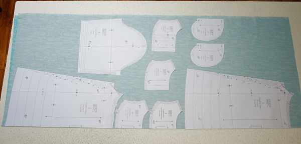Franklin dress Sew Along fabric layout Day 2