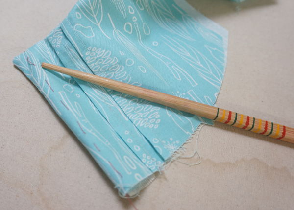 Franklin dress Sew Along chopstick Day 5